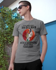 02 saxophone old man never Classic T-Shirt apparel-classic-tshirt-lifestyle-17