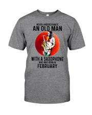 02 saxophone old man never Classic T-Shirt front