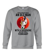 02 saxophone old man never Crewneck Sweatshirt tile