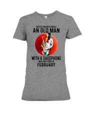 02 saxophone old man never Premium Fit Ladies Tee tile