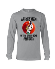 02 saxophone old man never Long Sleeve Tee tile