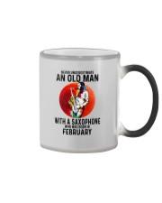 02 saxophone old man never Color Changing Mug tile