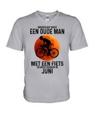 6 cycling old man never dutch V-Neck T-Shirt tile
