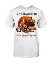 Biker Thanksgiving Classic T-Shirt front