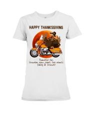 Biker Thanksgiving Premium Fit Ladies Tee tile