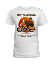 Biker Thanksgiving Ladies T-Shirt tile