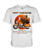 Biker Thanksgiving V-Neck T-Shirt tile