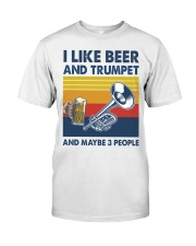 Trumpet I Like Beer Classic T-Shirt front