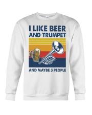 Trumpet I Like Beer Crewneck Sweatshirt tile