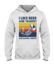 Trumpet I Like Beer Hooded Sweatshirt tile
