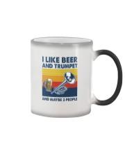Trumpet I Like Beer Color Changing Mug tile