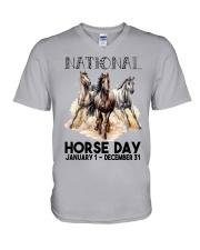 National Horse V-Neck T-Shirt tile