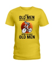 Cycling Most Old Men  Ladies T-Shirt tile