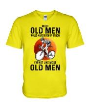 Cycling Most Old Men  V-Neck T-Shirt tile