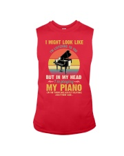 Piano I Might listenning Sleeveless Tee tile