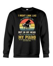 Piano I Might listenning Crewneck Sweatshirt tile