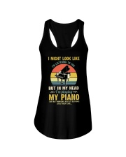 Piano I Might listenning Ladies Flowy Tank tile