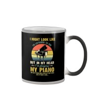 Piano I Might listenning Color Changing Mug tile