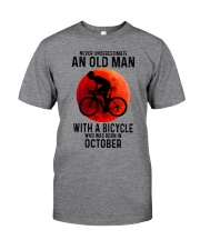 10 cycling old man never Classic T-Shirt front