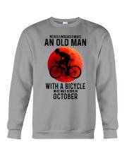 10 cycling old man never Crewneck Sweatshirt tile