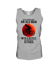 10 cycling old man never Unisex Tank tile