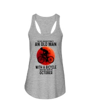 10 cycling old man never Ladies Flowy Tank tile