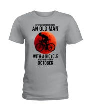 10 cycling old man never Ladies T-Shirt tile