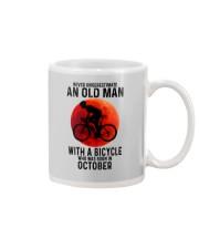 10 cycling old man never Mug tile
