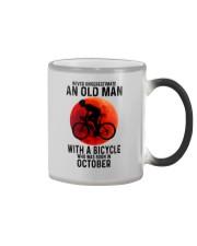 10 cycling old man never Color Changing Mug tile