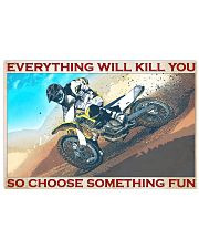 Motocross evrything fun 36x24 Poster front