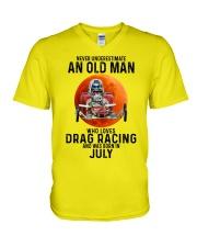07 dragrc-olm V-Neck T-Shirt tile