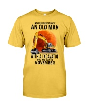11 excavator old man color Classic T-Shirt fro