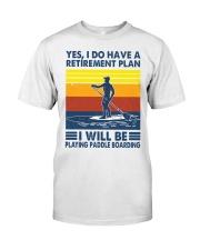 Paddleboarding Retirement Plan Premium Fit Mens Tee tile