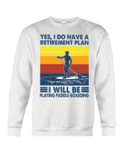 Paddleboarding Retirement Plan Crewneck Sweatshirt tile