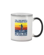 Paddleboarding Retirement Plan Color Changing Mug tile
