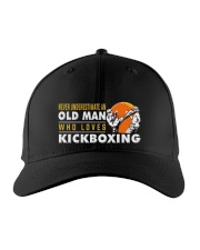 hat kickboxing old man Embroidered Hat front