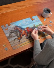 harness racing 250 Piece Puzzle (horizontal) aos-jigsaw-puzzle-250-pieces-horizontal-lifestyle-front-12