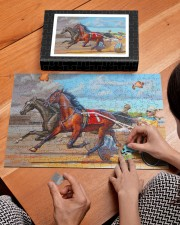 harness racing 250 Piece Puzzle (horizontal) aos-jigsaw-puzzle-250-pieces-horizontal-lifestyle-front-29