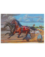 harness racing 250 Piece Puzzle (horizontal) front