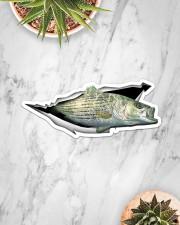 Striped Bass Sticker - Single (Horizontal) aos-sticker-single-horizontal-lifestyle-front-06