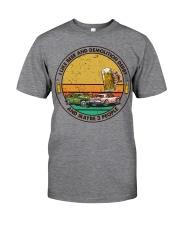 i like beer demolition derby Classic T-Shirt tile