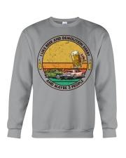 i like beer demolition derby Crewneck Sweatshirt tile