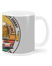 i like beer demolition derby Mugs tile