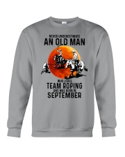 09 Team roping old man Crewneck Sweatshirt tile