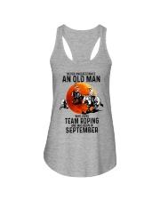 09 Team roping old man Ladies Flowy Tank tile