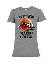 09 Team roping old man Premium Fit Ladies Tee tile