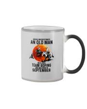 09 Team roping old man Color Changing Mug tile