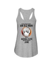 06 baseball old man Ladies Flowy Tank tile