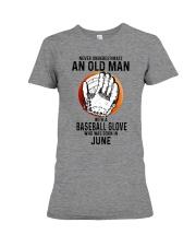 06 baseball old man Premium Fit Ladies Tee tile