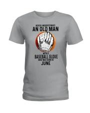 06 baseball old man Ladies T-Shirt tile
